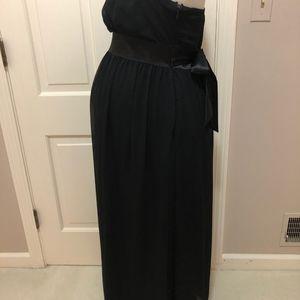 Maternite Dresses - Maternite Black Long Tube Dress